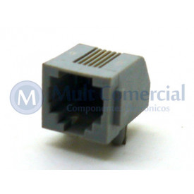 Conector JACK RJ11 YH55-02 4P4C Com 04 Vias