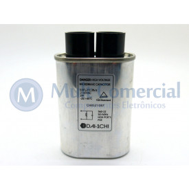 Capacitor para Microondas 0.87uF/2100VAC 50/60Hz -20/+85ºC Alta Tensão