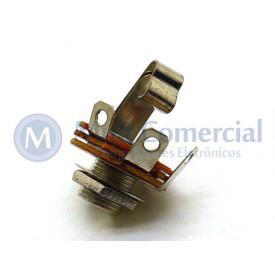 """Jack J10 Mono N.F 1/4"""" utilizado em pedais de efeito para instrumentos musicais - JL12005"""
