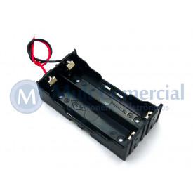 Suporte para 2 Baterias DIY-2 - 18650
