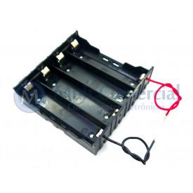 Suporte para 4 Baterias DIY-4 - 18650