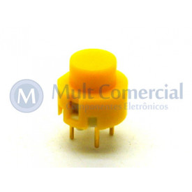 Chave Push Button ON Sem Trava Momentânea WTN-16-1212 - Amarelo
