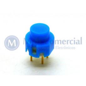 Chave Push Button ON Sem Trava Momentânea WTN-16-1212 - Azul