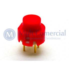 Chave Push Button ON Sem Trava Momentânea WTN-16-1212 - Vermelho