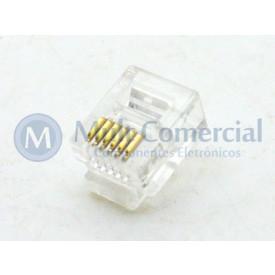 Conector RJ12 6P6C 6 Vias - DS1122-01