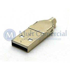 Conector USB A Macho Solda Fio - DS1107-WN0
