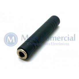 Emenda P10 para P10 Estéreo 6.35mm/6.35mm - JL16081B - Jiali