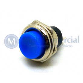 Chave Push Button NF Azul PBS-26C ON/OFF (Normalmente Fechada)
