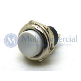 Chave Push Button NF Branco PBS-26C ON/OFF (Normalmente Fechada)