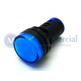 Sinaleiro Led 22mm AD1622DBL 12Vcc - Azul
