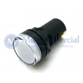 Sinaleiro Led 22mm AD1622DW 24Vcc - Branco
