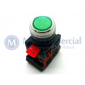 Botão Pulsador Verde - LAY80-PA35 - JNG