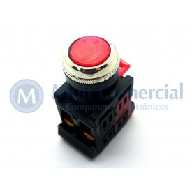 Botão Pulsador Vermelho - LAY80-PA45 - JNG