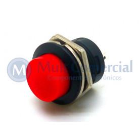 Chave Push Button ON Sem Trava Momentânea (NA) - R13-507 - Vermelho