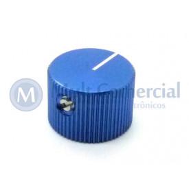 Knob de Alumínio com Parafuso A-2014 - Azul
