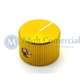 Knob de Alumínio com Parafuso A-2014 - Amarelo
