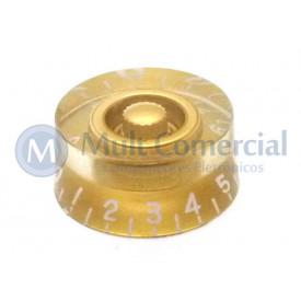 Knob númerado (0-10) Dourado - C-2005