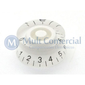 Knob númerado (0-10) Branco - C-2005