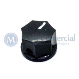 Knob com Parafuso Padrão MXR - KN-1250 - Preto