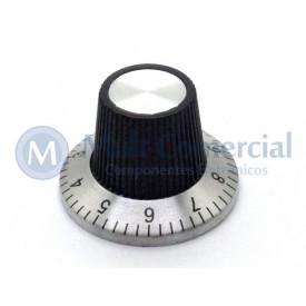 Knob númerado (0-09) Preto - KN-135A