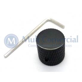Knob de Metal com parafuso allen - Preto - C-1012