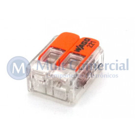 Conector Wago Borne Emenda Para 2 Fios - 221-412 - Wago