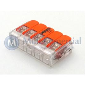 Conector Wago Borne Emenda Para 5 Fios - 221-415 - Wago