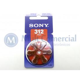 Bateria PR41 para Aparelho Auditivo 1.4V - Cartela com 6 Baterias - Sony