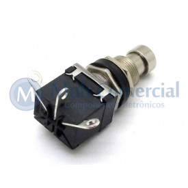 Chave SPDT Foot Switch Momentânea On-(On) para solda fio PBS-24-112