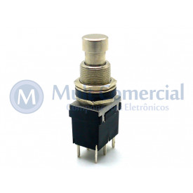 Chave DPDT Foot Switch Momentânea On-(On) para solda em placa PCI PBS-24-212P