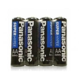 Cartela de Pilha Pequena AA Panasonic com 4 unidades