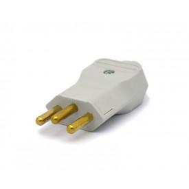 Plug 2P+T 20A/250V Cinza - PLD2-3 - Margirius