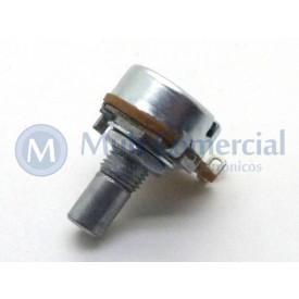 Potenciômetro Alpha 16mm Linear B100K Ω eixo alumínio liso com 8mm - RV16AF-10-15R-B100K-3