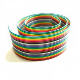 Flat Cable Colorido 26AWG - de 4 a 24 Vias - Preço Por Metro