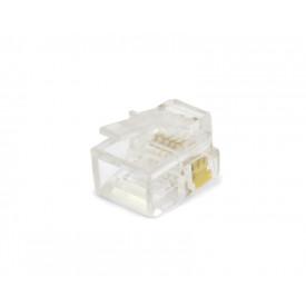 Plug Modular Cristal RJ12 6P6C YH010