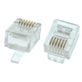 Conector RJ12 6X6 6 Vias - DS1122-P60T