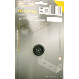 Roda média de Plástico Embalagem com 8 Peças - Modelix