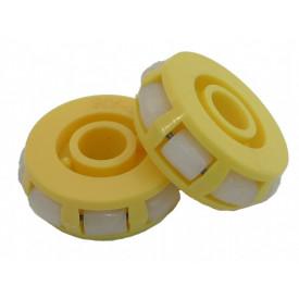 Roda Omnidirecional 50 mm de diâmetro e 17 mm de espessura com 8 rodas de 10mm - Emb. com 2 peças