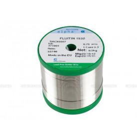 Estanho para Solda Livre de Chumbo Lead Free No-Clean SACX0307 diâmetro de 1mm Best Carretel Verde de 500g