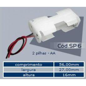 Suporte para 2 Pilhas  AA - SP6