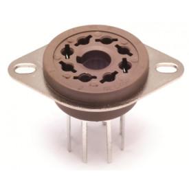 Soquete para Válvula de 8 Pinos (Octal) Pinos Longos Solda em placa PCI VT8-PT - Belton
