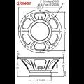 Falante Jensen N12/100 Tornado Classic 16 ohms 100 watts 12 polegadas - ZJ06365