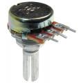 Potenciômetro 16mm Log A100K Ω eixo estriado com 20mm - A100KL20KC