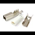 Conector USB B Macho solfa fio - DS1108-WNO