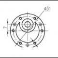 Motor com Redução 12V 16 RPM Cód. Motor 40