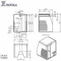 Caixa Plástica  CF-817 - Patola