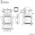 Caixa Plástica DIN 98X98/2 TA - Patola