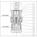 Conector BNC 50 OHMS Macho Reto Carga 50 OHMS (TERMINADOR) - LM-1C - Gav 67 - KLC