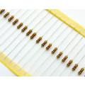 Resistor de Filme de Carbono 1/4 de Watt CR25 5% de tolerância - 0.22R Ω à 10M Ω
