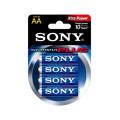 Cartela com 4 Pilhas Alcalina AA 1.5v Stamina AM3-B4D - Sony